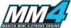 Los motores Makita de 4 tiempos ofrecen un alto par motor y una gran potencia.